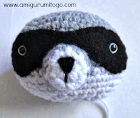 crochet muzzle for raccoon