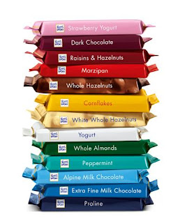 Stack of Ritter Sport Chocolate