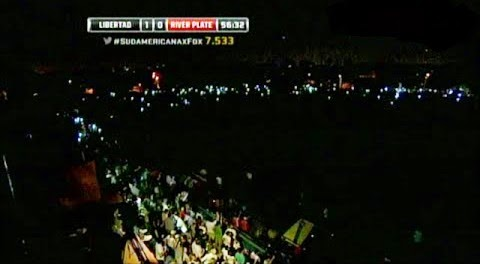 Corte de luz, apagon, apagón, Libertad, Libertad de Paraguay, River, River Plate, Copa Sudamericana, Sudamericana, 2014