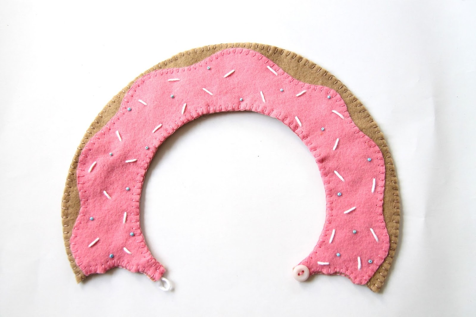 finished doughnut collar