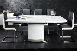 jedalensky roztahovaci stôl, biele jedalenske stoly, dizajnovy stôl do kuchyne