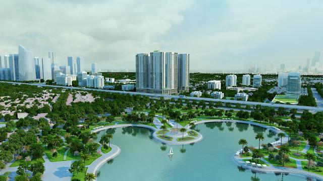 Eco green city view công viên hồ hạ đình