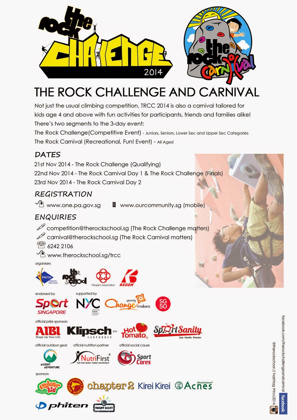 The Rock Challenge & Carnival 21 - 23 Nov 2014
