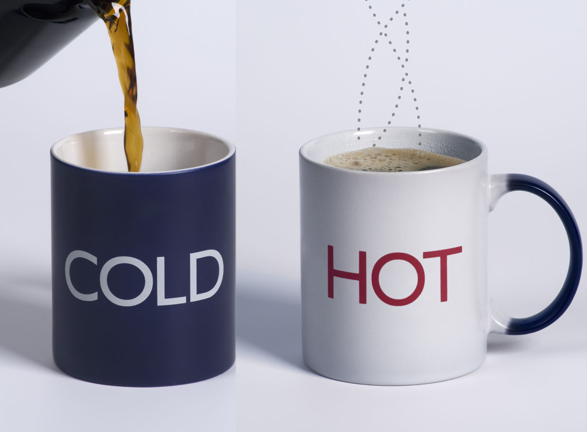 Coffee hot cold coffee mug