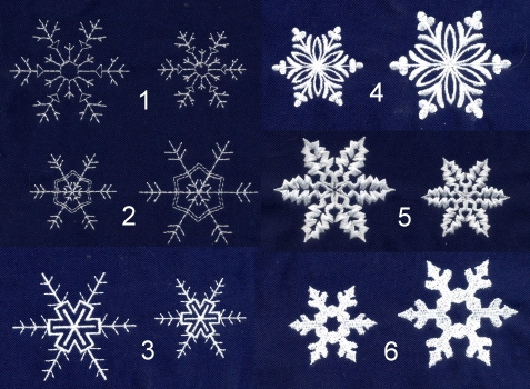 snowflakes mini embroidery