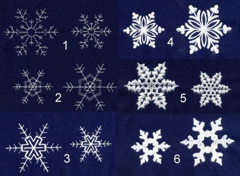 snowflakes mini embroidery