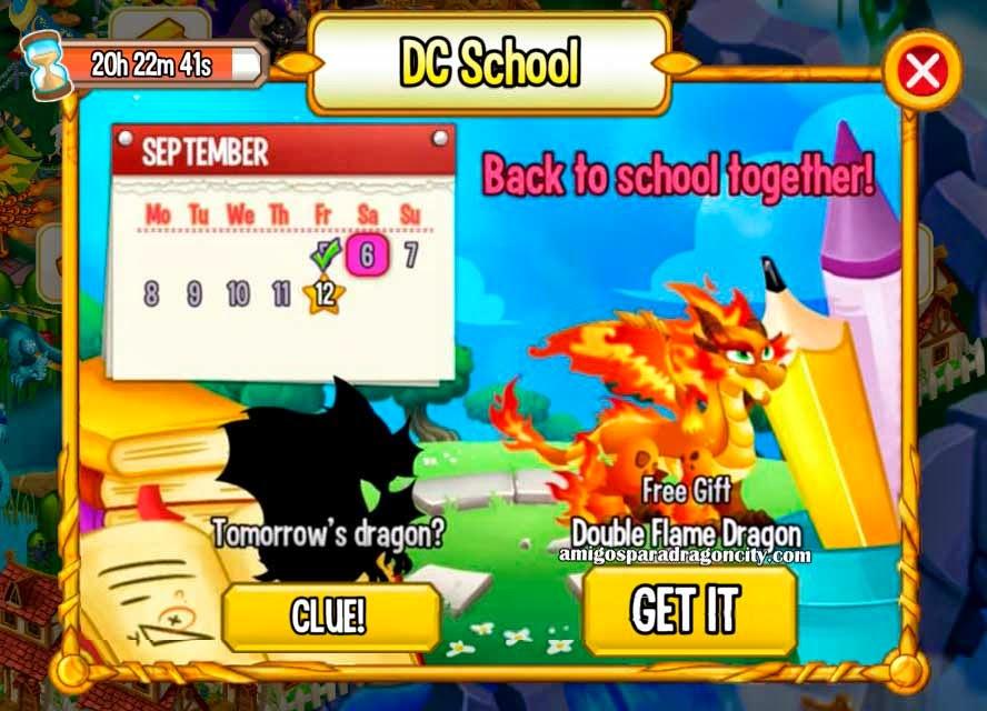 imagen del dragon fuego doble de la isla escuela de dragon city mobile