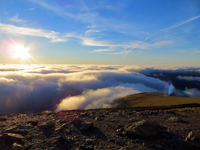 three peaks, 3 peaks, Snowdon, mountain, climb, adventure, Snowdonia, sunset, cloud inversion, landscape,