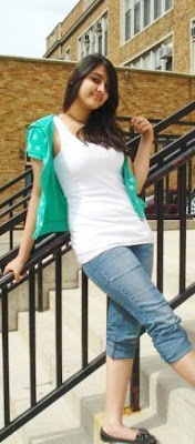Hot Pakistani Girl Sobia Hassan In White Shirt And Jeans
