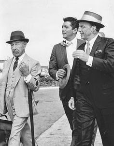 Mike Romanoff (left) with Dean Martin and Frank Sinatra
