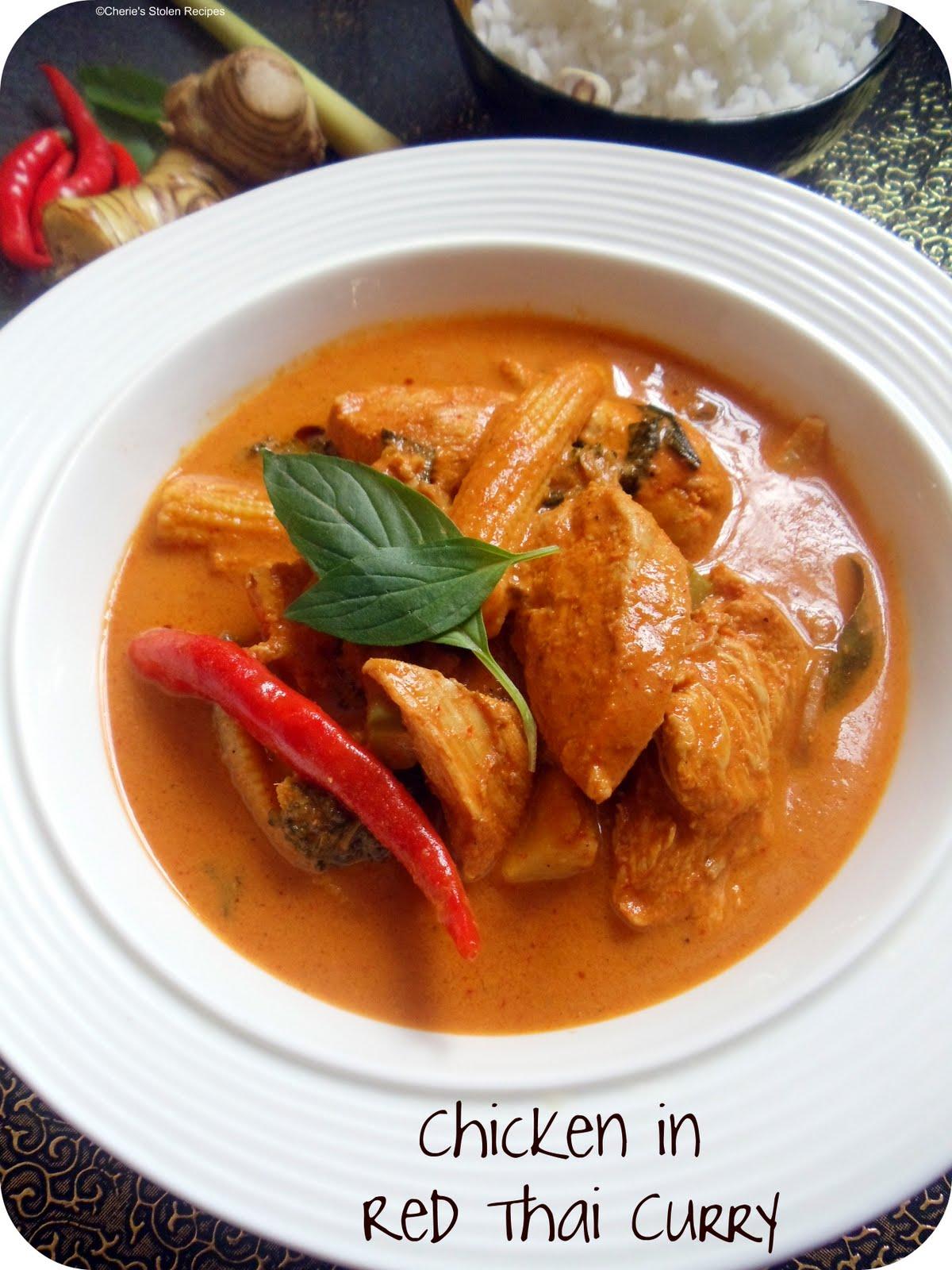 Cheries Stolen RecipesChicken in Red Thai Curry