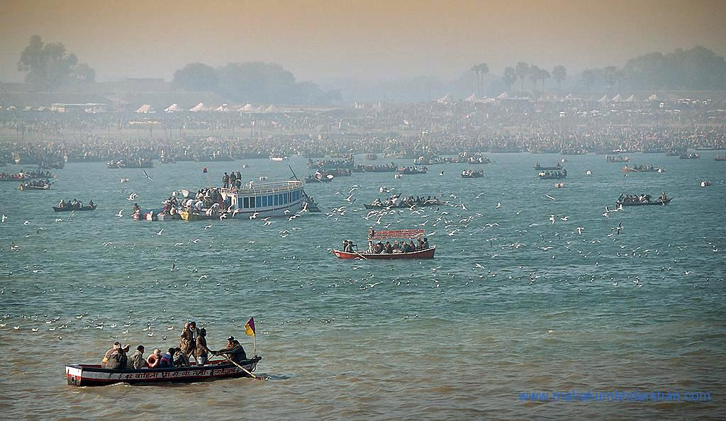 allahabad picture of the day pelgrims gathering near the sangam