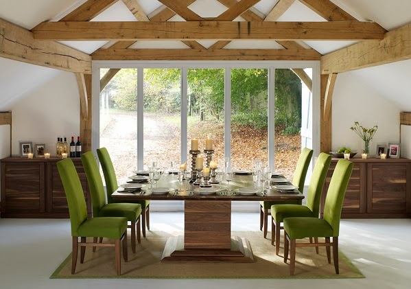 koleksi model meja makan modern desain denah rumah