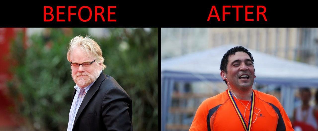 Olimpiu Porumb vs Philip Seymour Hoffman. Before - After