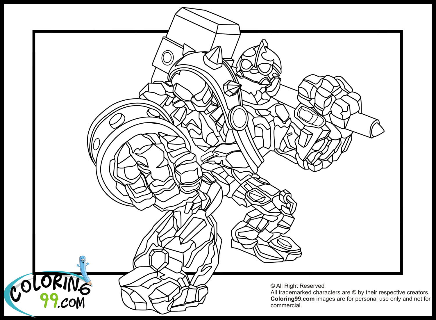 skylanders crusher coloring pages