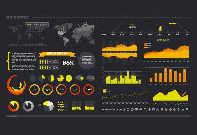 infografia en vectores