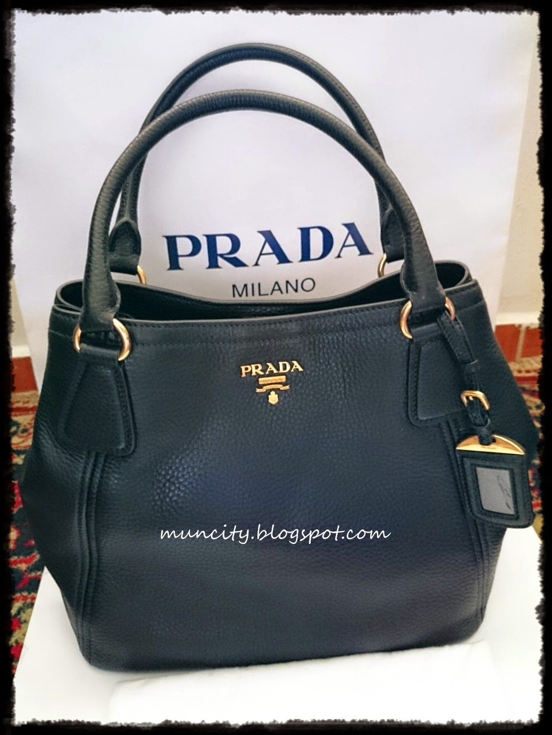 prada vitello soft double shoulder bag