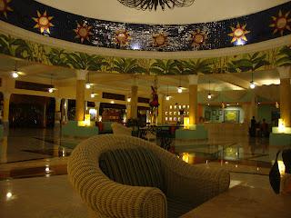 IberoStar Paraiso del Mar, Riviera Maya, Mxico. Main lobby, evening