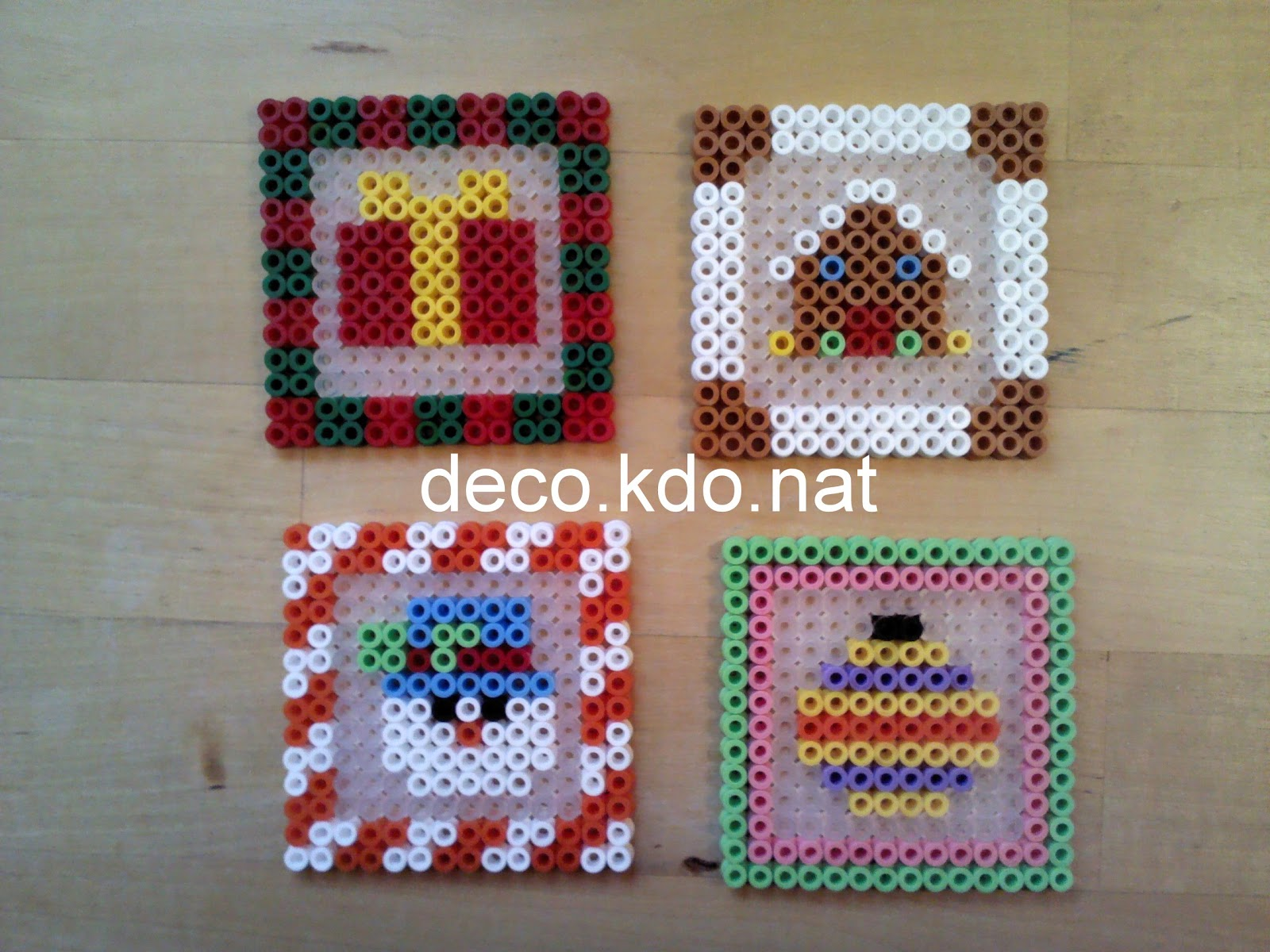 Deco kdo nat perles hama d co de table no l - Perle hama noel ...