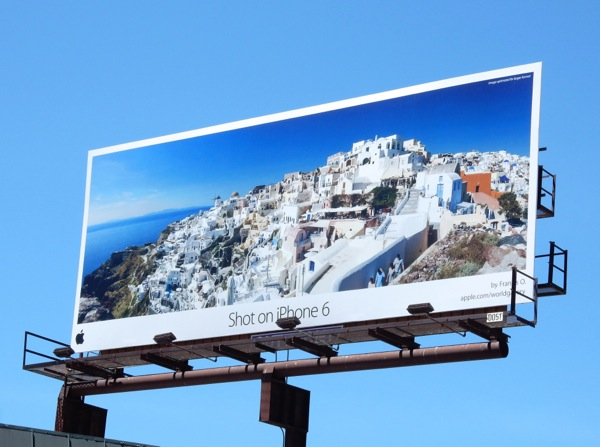 Shot on iPhone 6 Greek Isle billboard