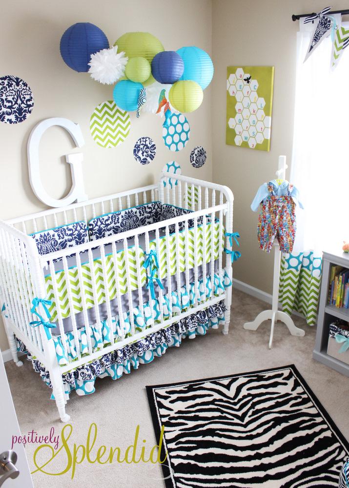 Baby boy nursery tour positively splendid crafts - Deko babyzimmer ...