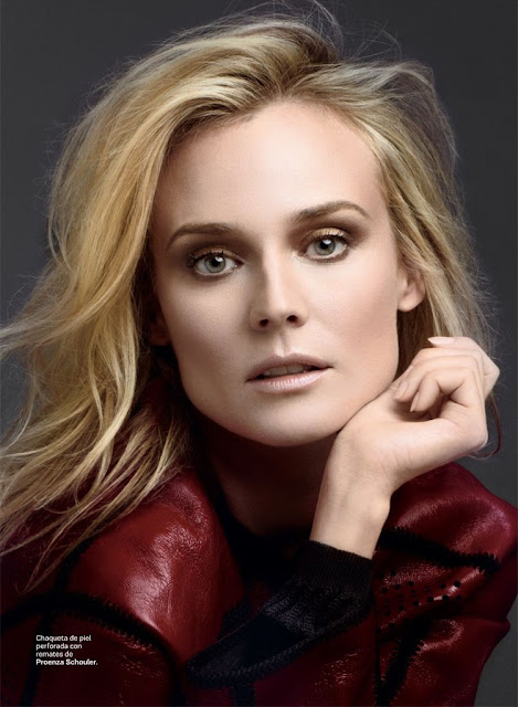 Diane Kruger poses for photographer David Roemer (Atelier Management), styled by Christopher Campbell (Atelier Management) for the April 2013 edition of S Moda.