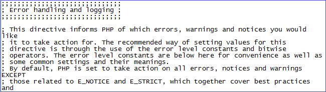 PHP Error reporting and logging