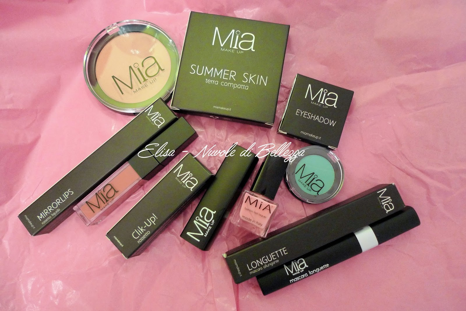 Mia Make Up - Recensione Terra Summer Kiss, Ombretto Mat, Mascara Longuette, Rossetto Mirrirlips, Rossetto Click Up, Smalto