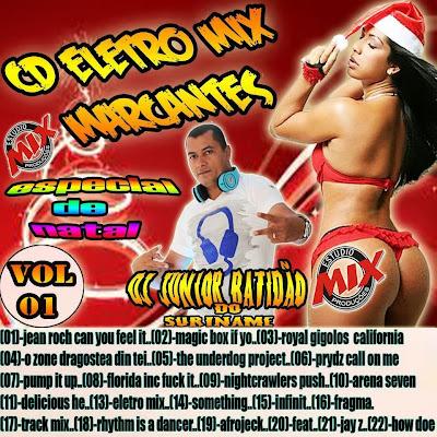 CD ELETRO DANCE MIX - MARCANTES - VOL 01 - ESPECIAL DE NATAL