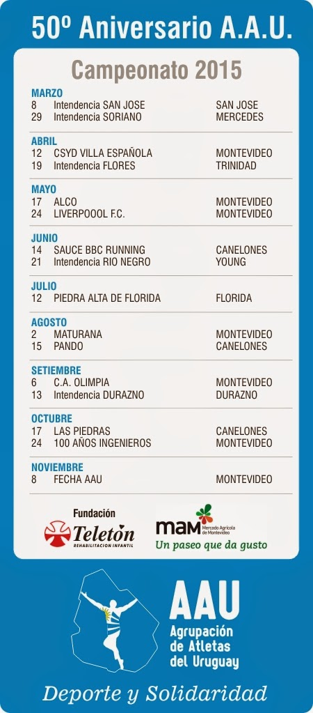 Calendario AAU 2015