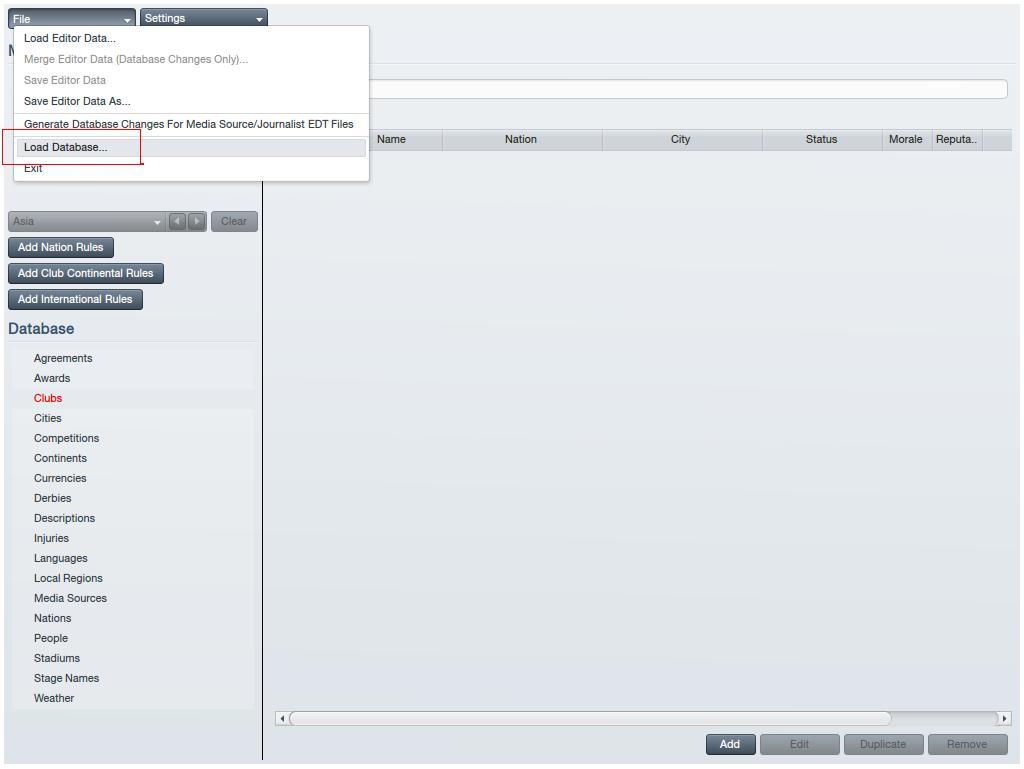 Load Database