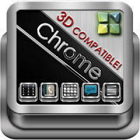 Next Launcher Theme Chrome 3D android apk