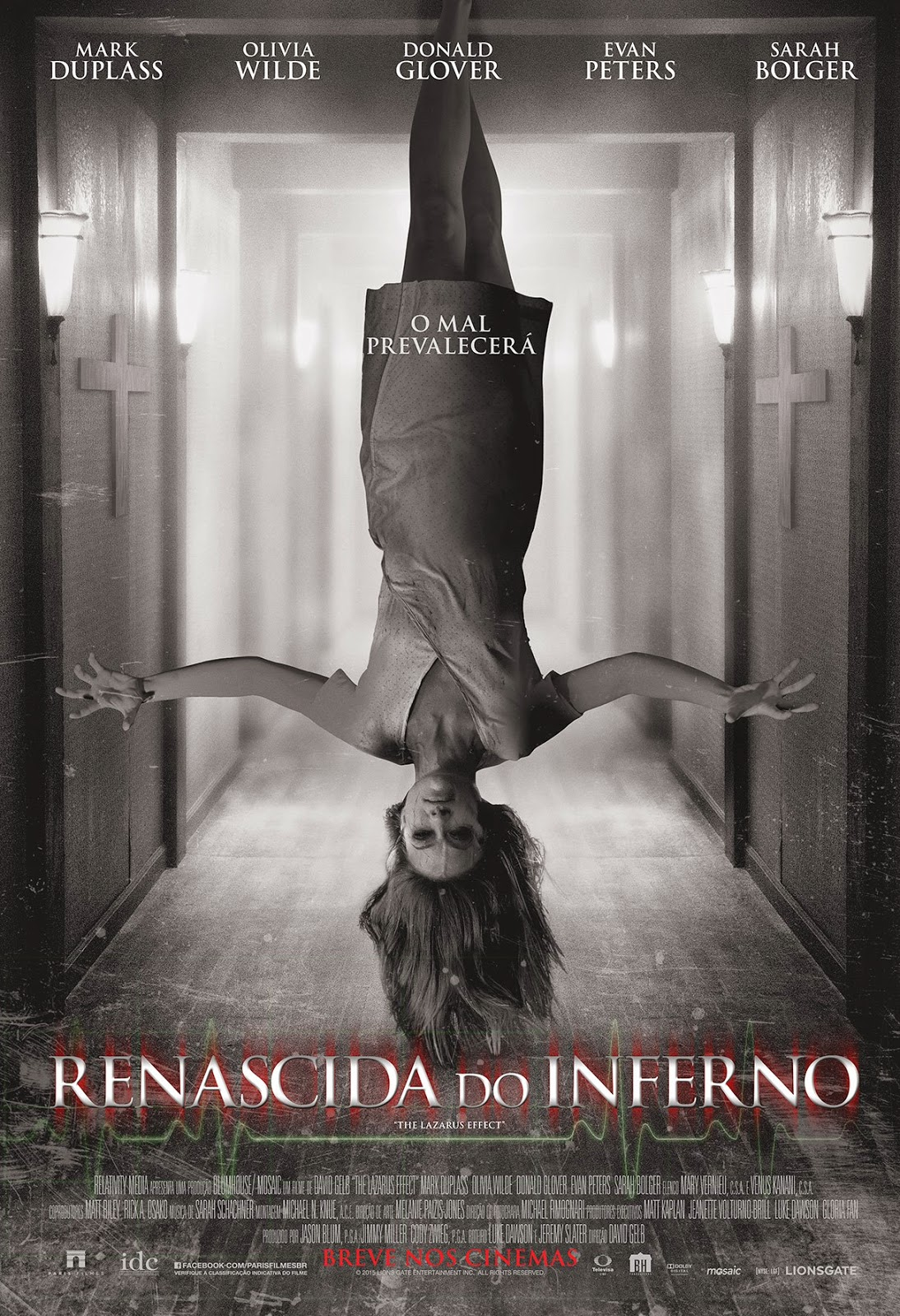 Pôster/capa/cartaz nacional de RENASCIDA DO INFERNO (The Lazarus Effect)
