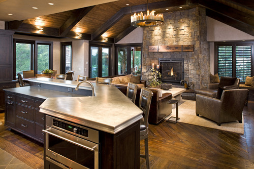 Open Concept Kitchen Living Room