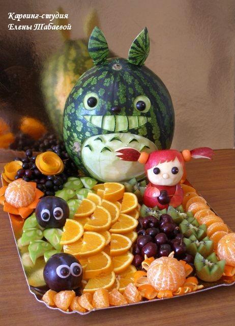 карвинг фруктов детский день рождения