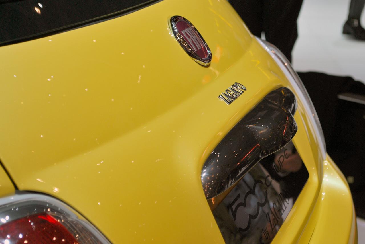 2012 FIAT 500 COUPE ZAGATO BACK VIEW DESIGN