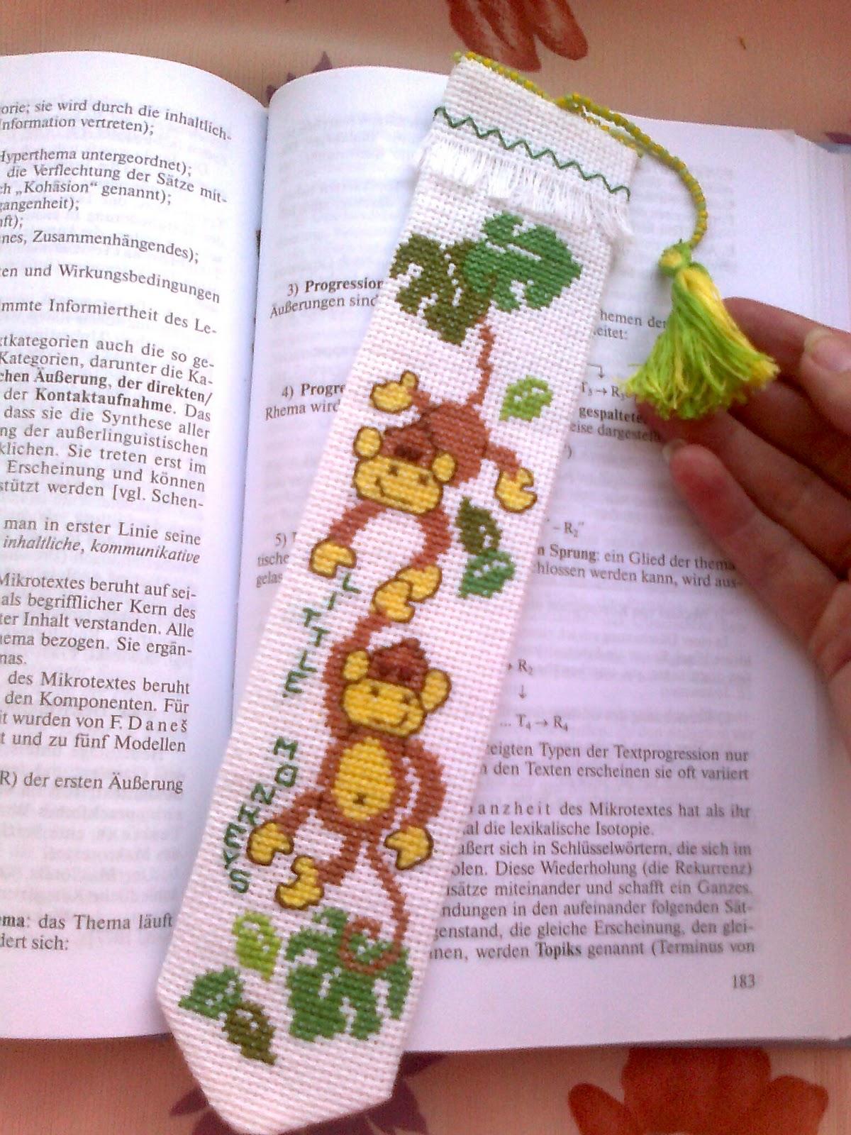 Закладки для книг с вышивкой крестом