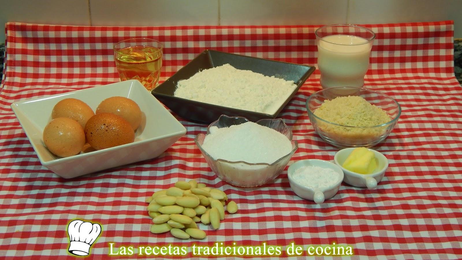 receta de bizcocho de almendras esponjoso