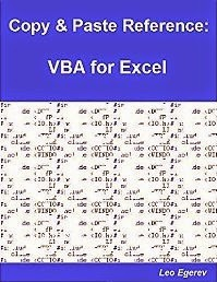 Copy & Paste Reference: VBA for Excel