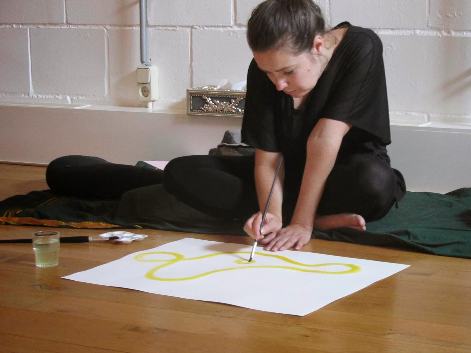 participant painting