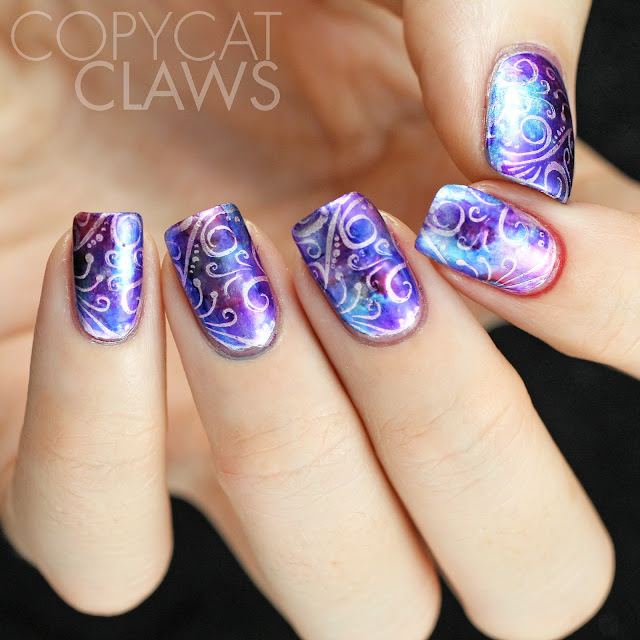 Copycat Claws Blue Color Block Nail Art: Copycat Claws: The Digit-al Dozen Does Inspired By