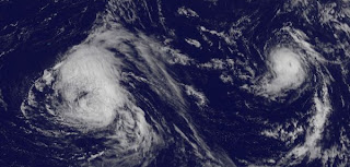 Michael, Leslie, Nadine, aktuell, Hurrikansaison 2012, Atlantische Hurrikansaison, Golf von Mexiko, Bermudas, Florida, Satellitenbild Satellitenbilder, September, 2012, Vorhersage Forecast Prognose,