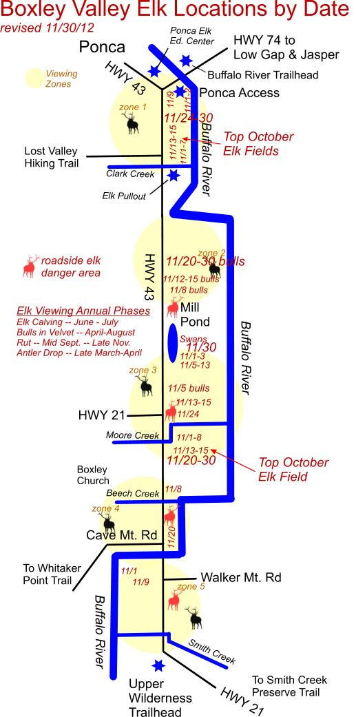 11/30/12 Elk Herd Location Map