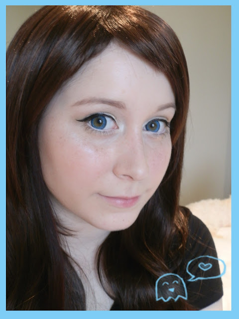 Big Eyes Circle Lenses - Barbie Puffy 3 Tones Blue