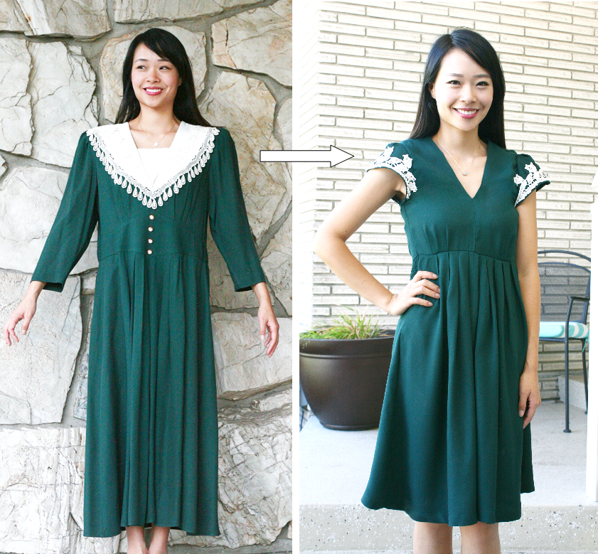 diy vintage dress refashion is beautiful