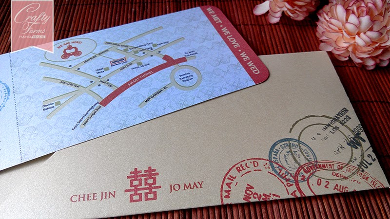 Chinese Modern Wedding Card