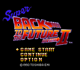 Super Back to the Future Part 2 title screen