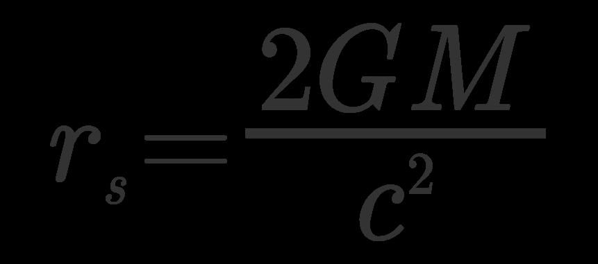 Resultado de imagen de el radio de  Schwarzschild