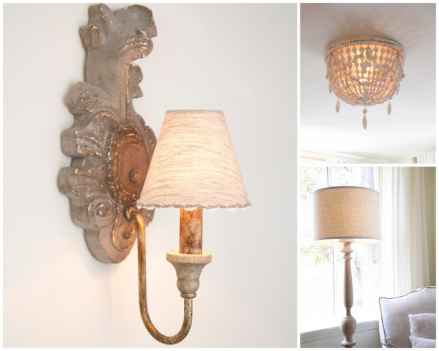 Lighting with sconces, chandelier, and lamp; Baby nursery; Nursery in the Nest; Nora's Nest