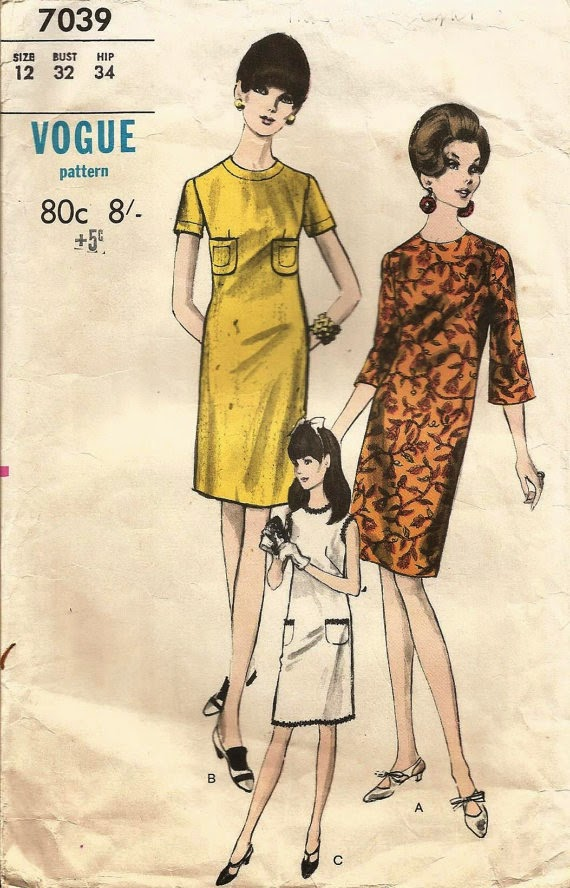 1960s pattern on Etsy